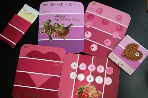 2009-02-03-paint chip valentine cards