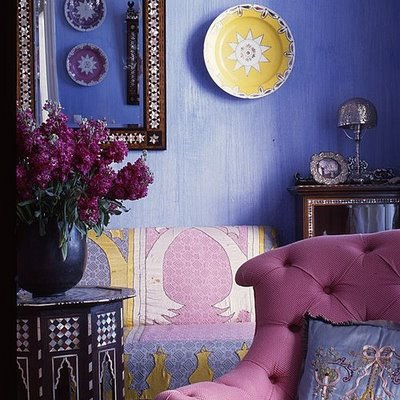 purple moroccan living romo